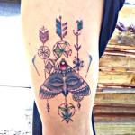 Тату от мастера Сунила, салон Xhead Tattoo inn.