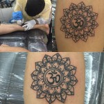 Татуировка в виде мандалы