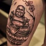 Татуировка с изображением Будды
