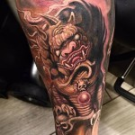 Татуировка Лев Будды или Собака Фу